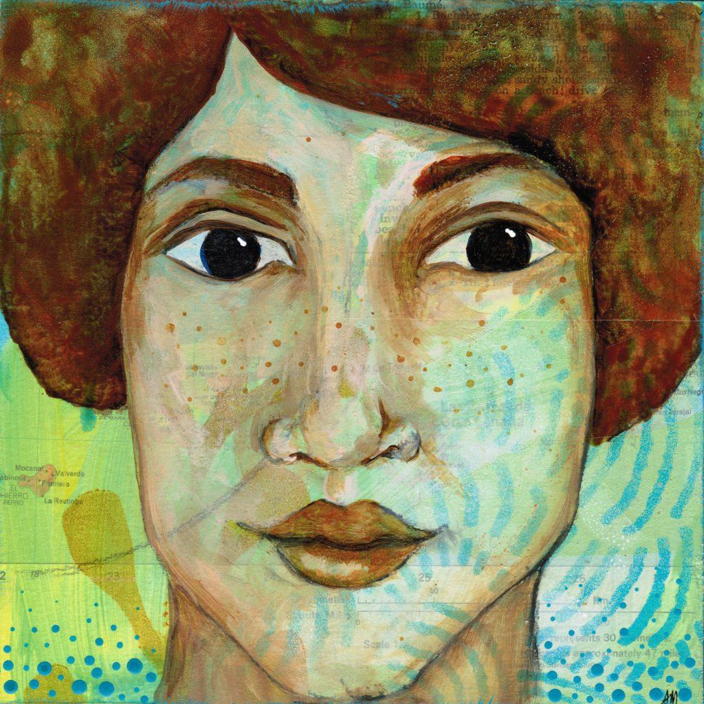 freckled seaside portrait